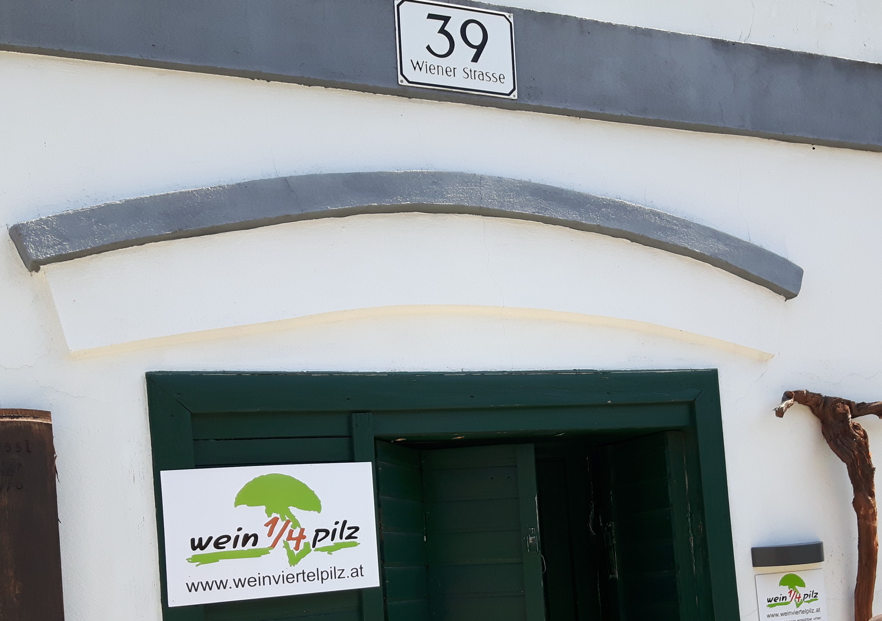 Kellereingang Wein4tel Pilze