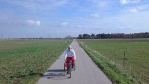 Der Ögreissler am Fahrrad im Marchfeld