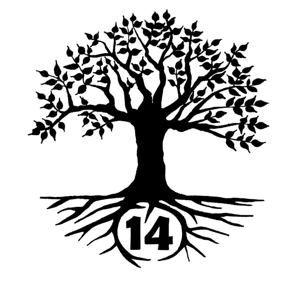Lebensbaum mit der Zahl14