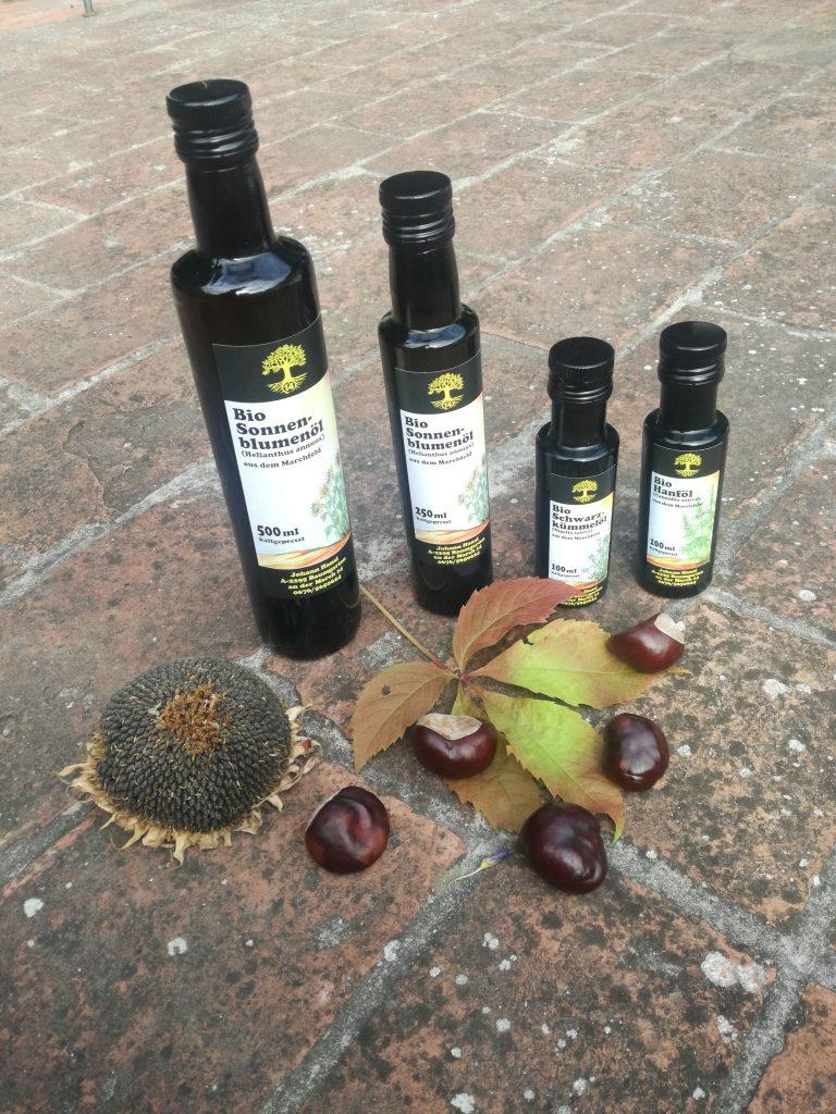 Einfach und Pur, kaltgepresstes Bio-Öl der Familie Hansi14