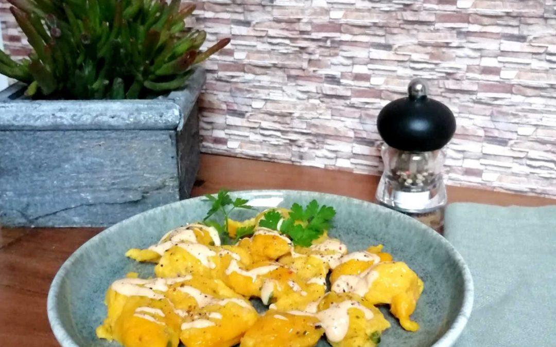 Kürbisnockerl mit Käsesauce