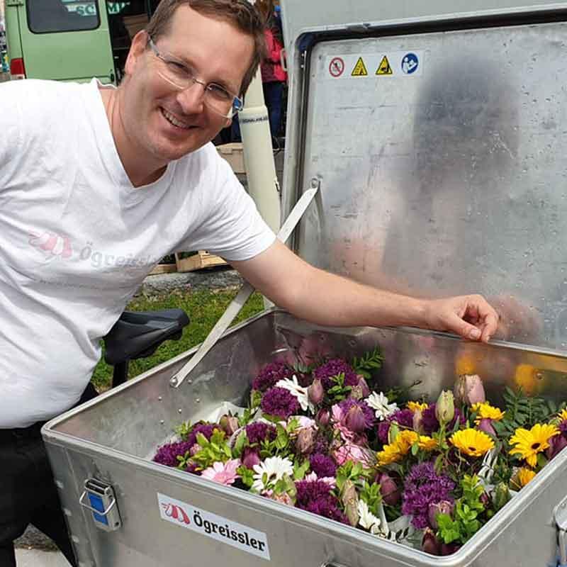 Frische Produkte aus dem Marchfeld liefert der Ögreissler nach Wien.