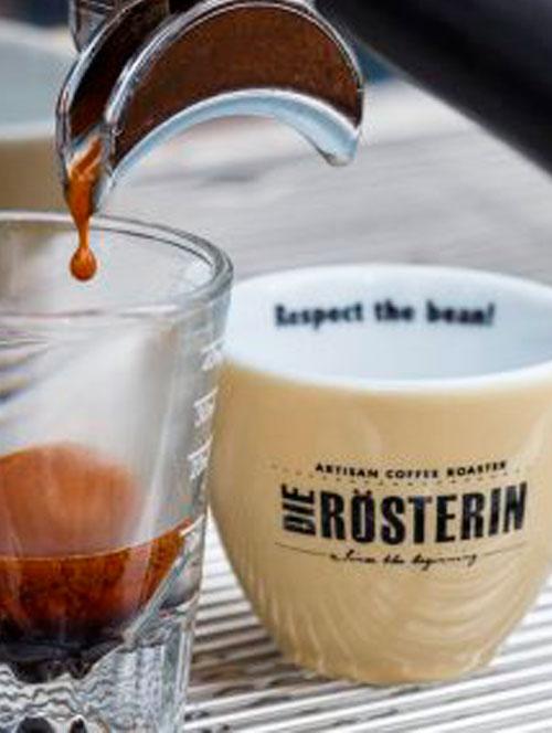 Kaffee von der Rösterin