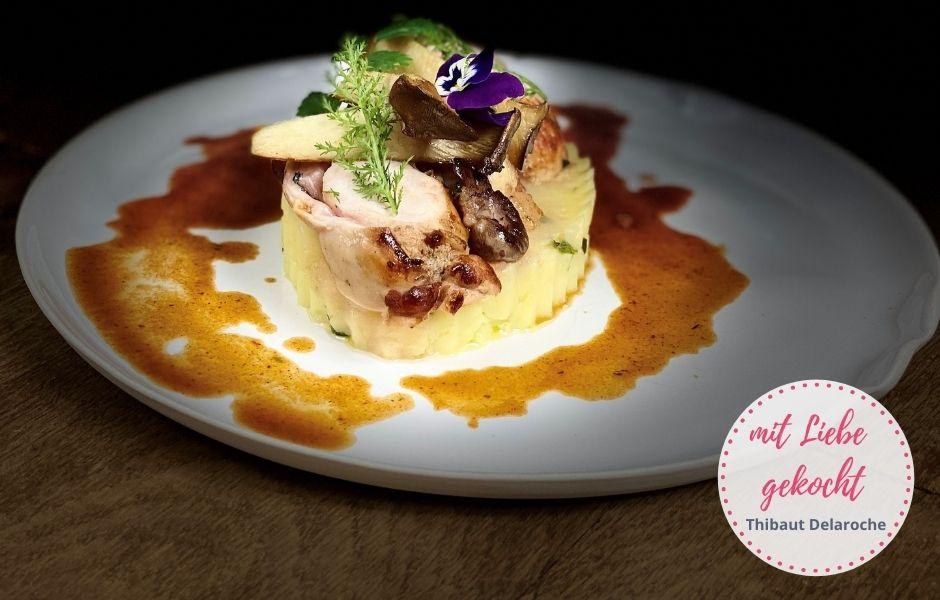 Rezept Kaninchen Rücken vom französischen Koch Thibaut Delaroche