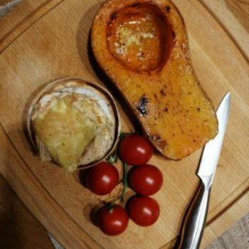Butternuss mit Ofenkäse